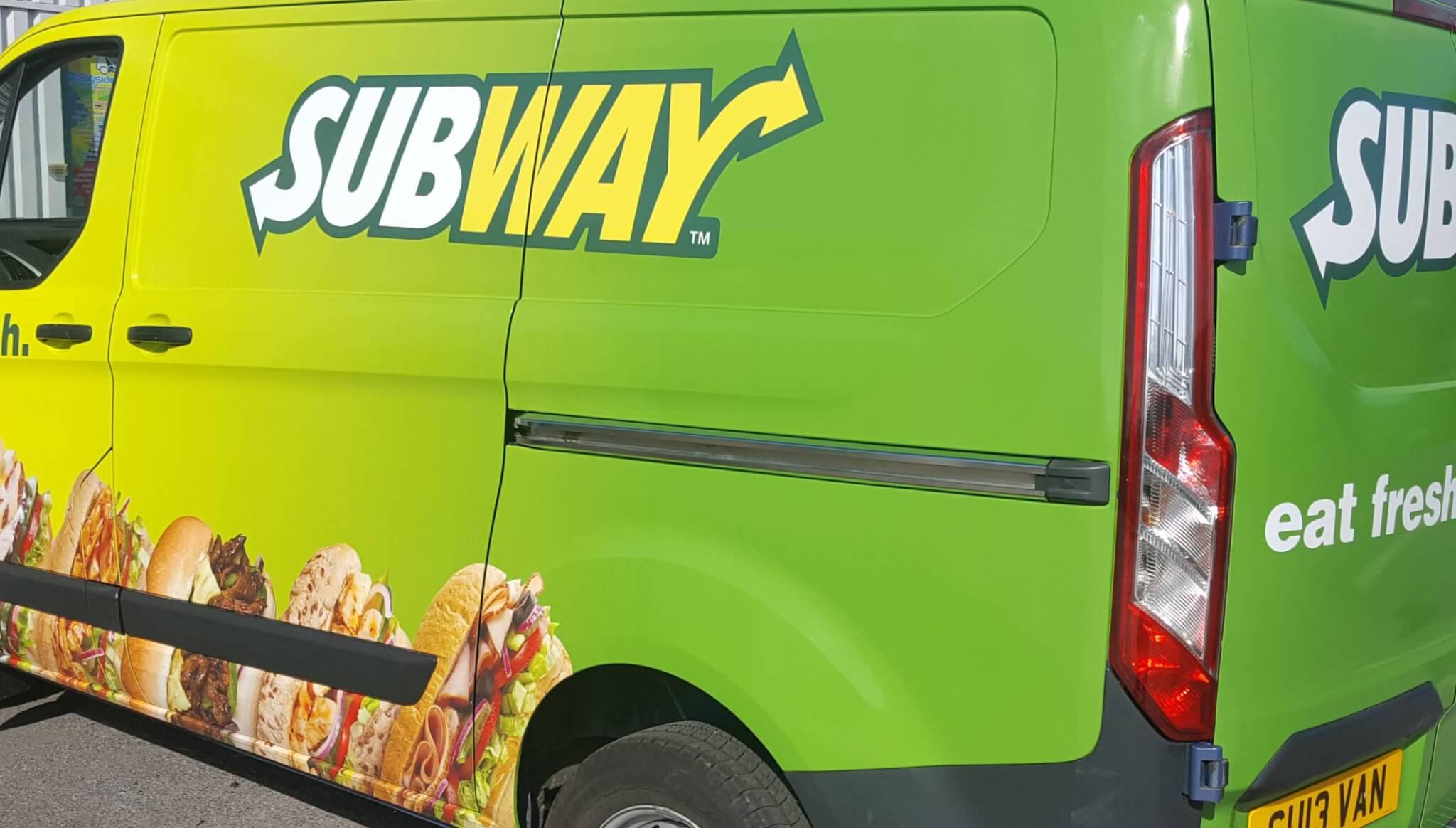 subway van wrap