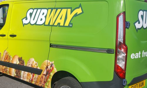 subway van wrap